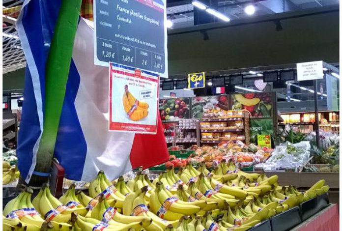 la banane aux couleurs de la France