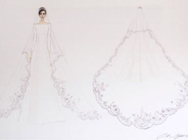 la robe du mariage princier Givenchy